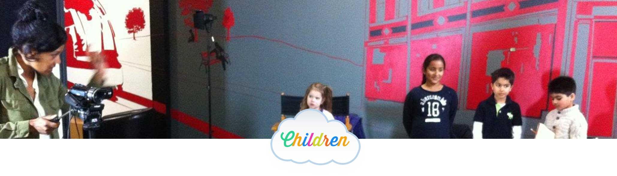 Children on camera acting